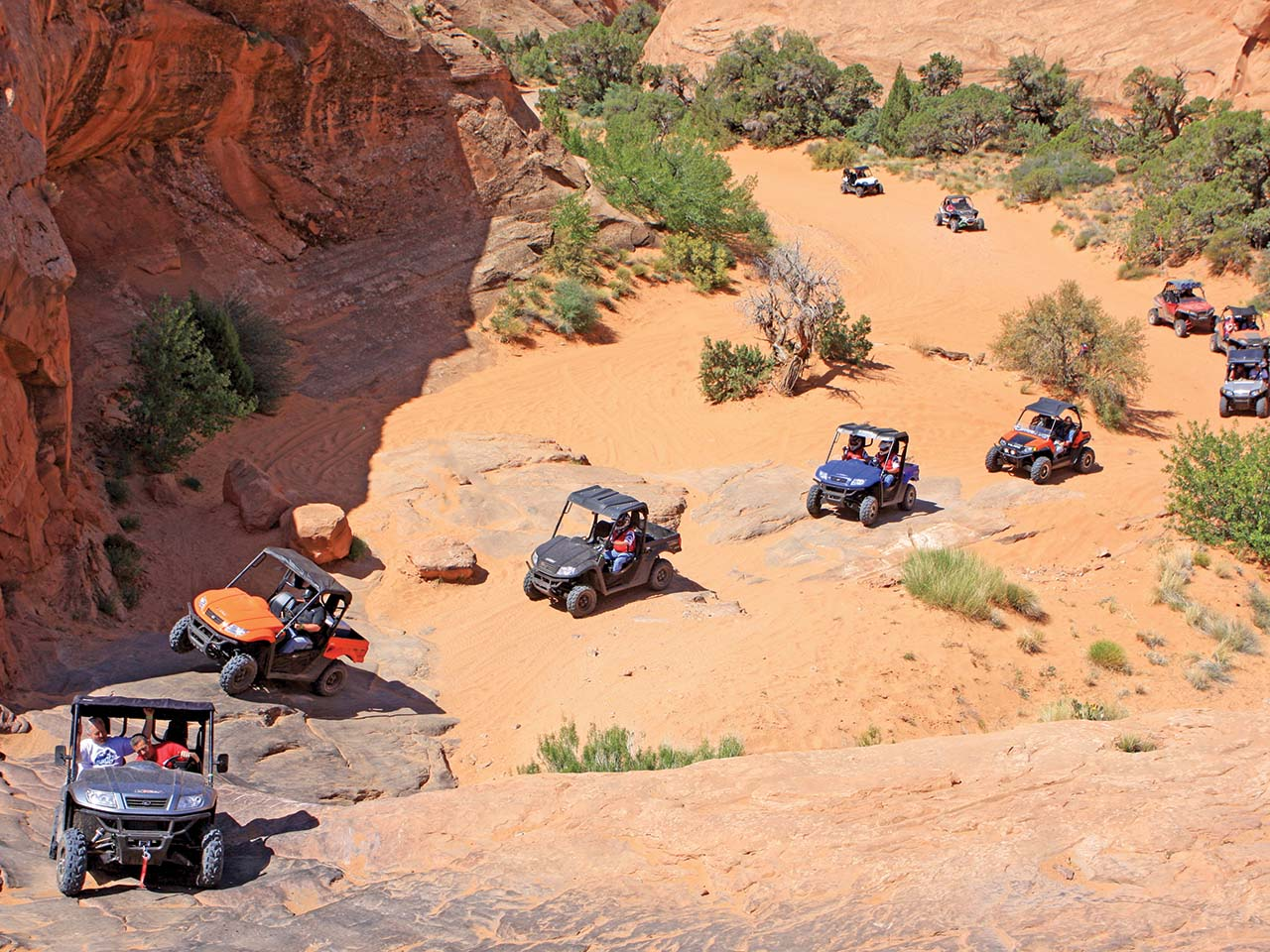 2012.location.moab-utah.arctic-cat-rally-on-the-rocks-event.line-of-side-x-sides