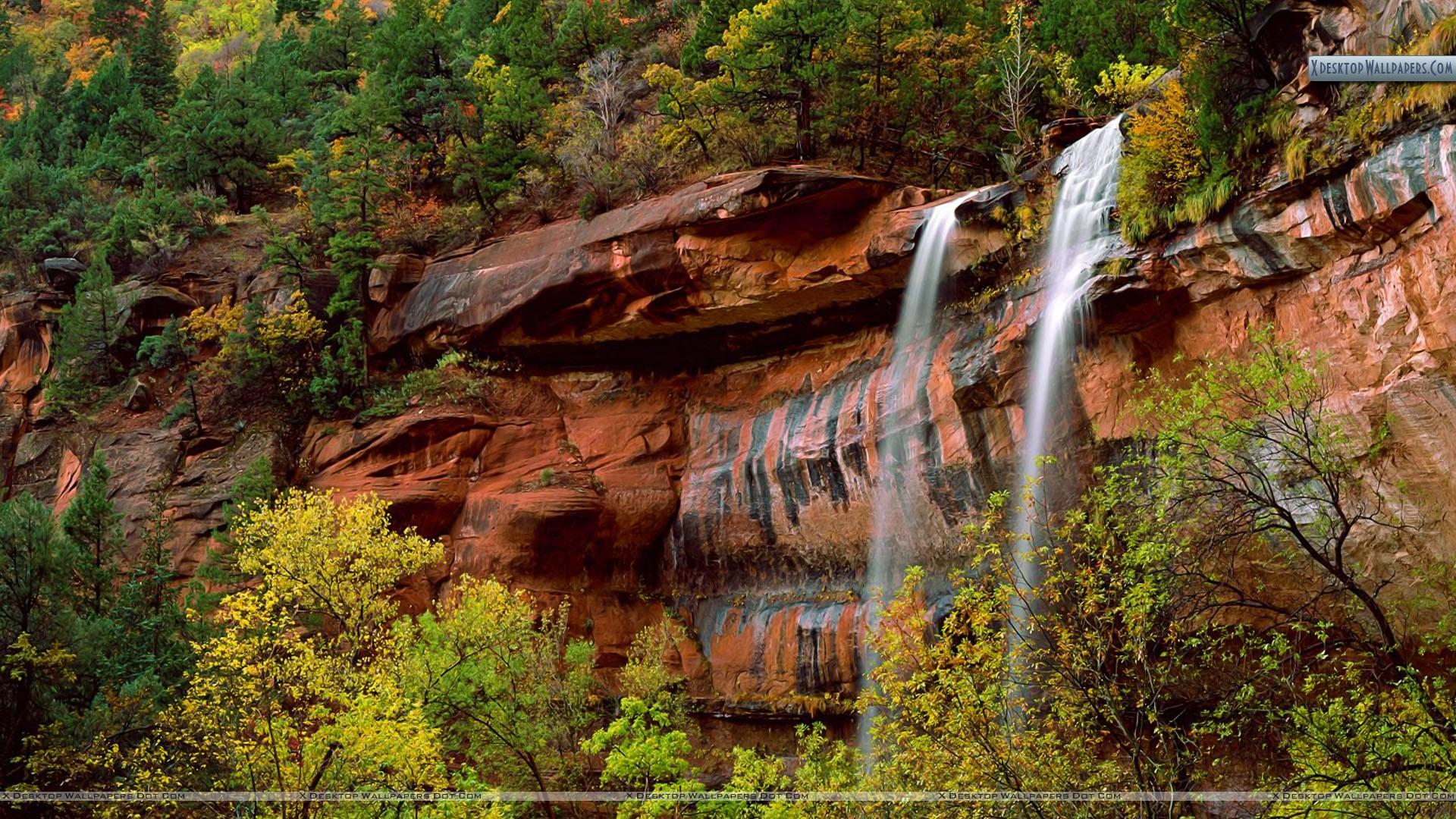 Emerald-Pools-Waterfall-Zion-National-Park-Utah